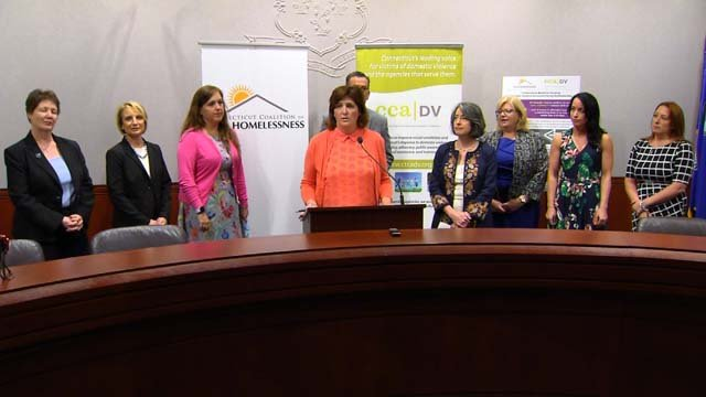 Offiicals announced Thursday that federal grants will go toward housing for domestic violence survivors (WFSB)