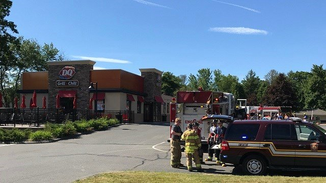 Crews responded to a South Windsor Dairy Queen on Saturday morning to investigate smoke (WFSB)