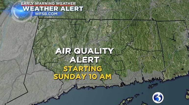 Air quality alert is in effect for portions of the state 10 AM-11PM tomorrow.