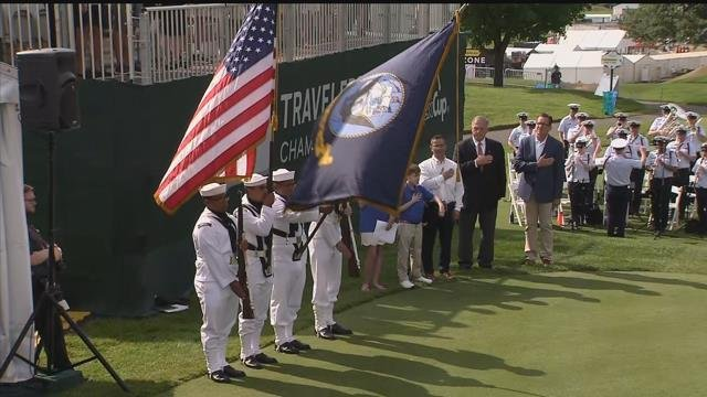 The opening ceremony for the Travelers Championship got underway on Monday morning. (WFSB)