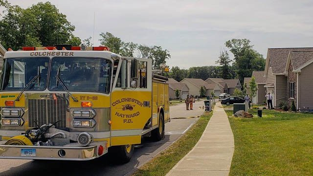 A propane leak in the Northwoods Community kept firefighters busy on Monday morning. (Colchester Professional Firefighters IAFF Local 3831)