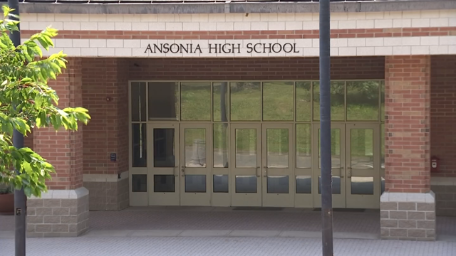Ansonia High School moved their graduation inside due to a threat for storms on Monday (WFSB)