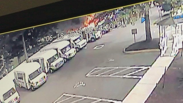 4 Goodwill vans catch fire in North Haven