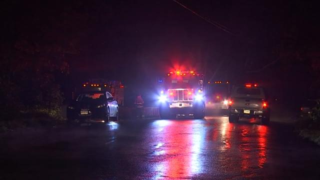 Crews battled a fire in Hampton (WFSB)