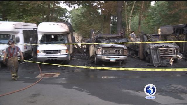 VIDEO: 4 Goodwill vans caught fire, officials warn of fire danger