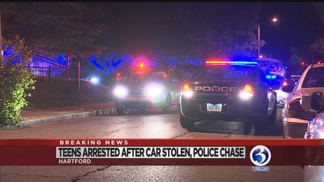VIDEO: Teens arrested after stolen car pursuit