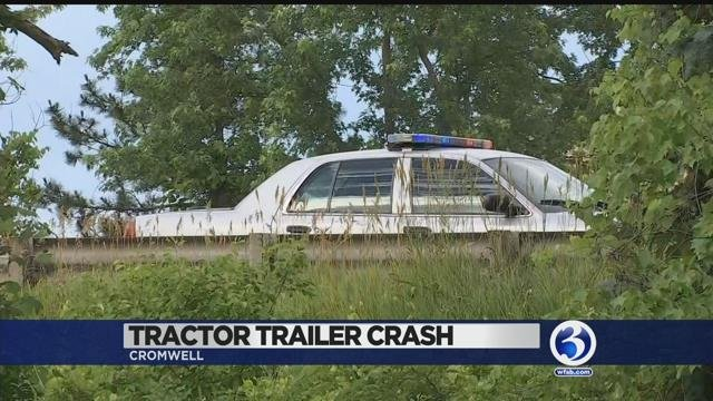 VIDEO: Tractor trailer, at least 2 vehicles involved in Cromwell crash