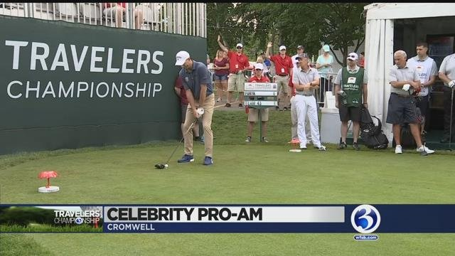 Video: Celebrity Pro-am teed off Wednesday morning