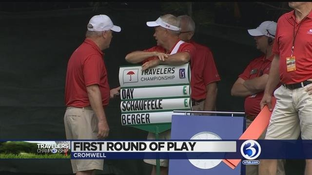 VIDEO: Travelers Championship kicks off competition, hosts Women's Day
