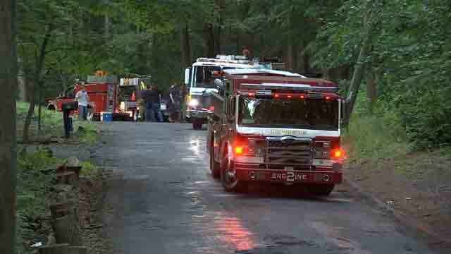 Two teens were rescued from Ragged Mountain on Thursday (WFSB)