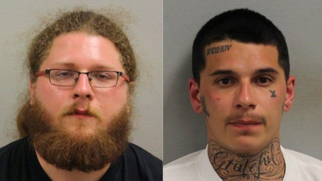 Joshua Bilodeau and Luis Clarke were arrested after a K9 unit uncovered cocaine in their vehicle in Bristol. (Bristol police)