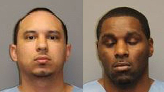 Felix Molina and Kevin Thomas were arrested on identity theft charges after South Windsor police said they intercepted packages ordered with stolen information. (South Windsor police)