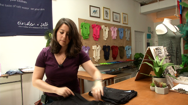 Middletown clothing and accessories boutique 'Cinder and Salt' opened three years ago on Main Street. (WFSB)