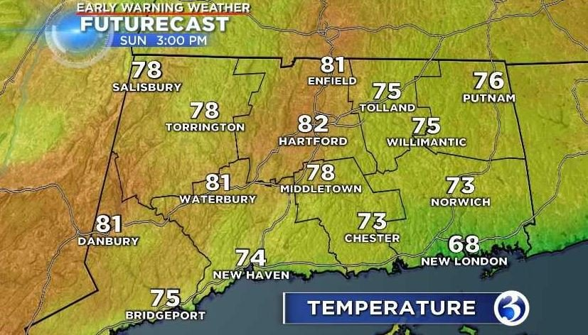 Afternoon temperatures (WFSB)