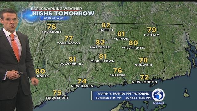 Heat and humidity in forecast for Sunday