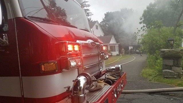Firefighters heard an explosion and shortly thereafter they were dispatched to Fairlawn Avenue (Danbury Fire Department)