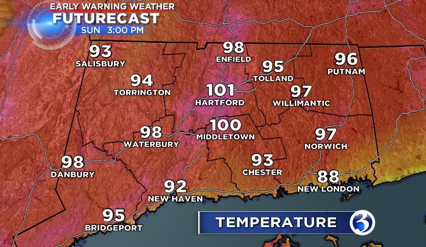 Temperatures to feel as hot as 104 degrees in Massachusetts Tuesday