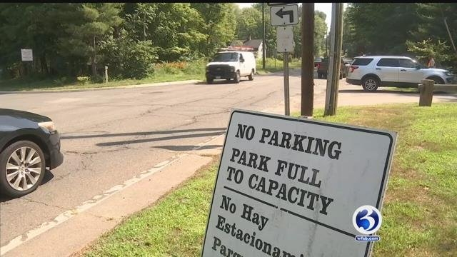 Several state and local parks, including Wadsworth Falls in Middletown, filled to capacity on the Fourth of July. (WFSB)