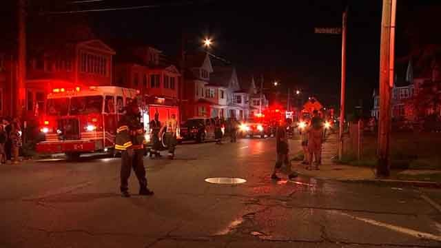 Multiple injuries have been reported after a porch collapsed in Hartford (WFSB)