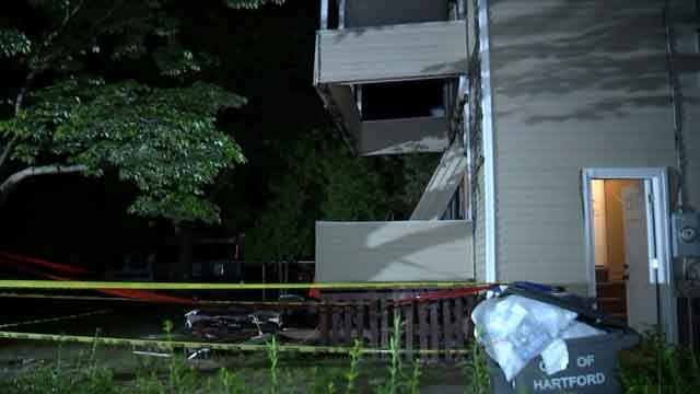 Children were among those taken to the hospital after a porch collapsed in Hartford (WFSB)