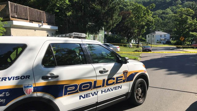 An investigation was underway on Rock Creek Road in New Haven after a naked woman was found. (WFSB)