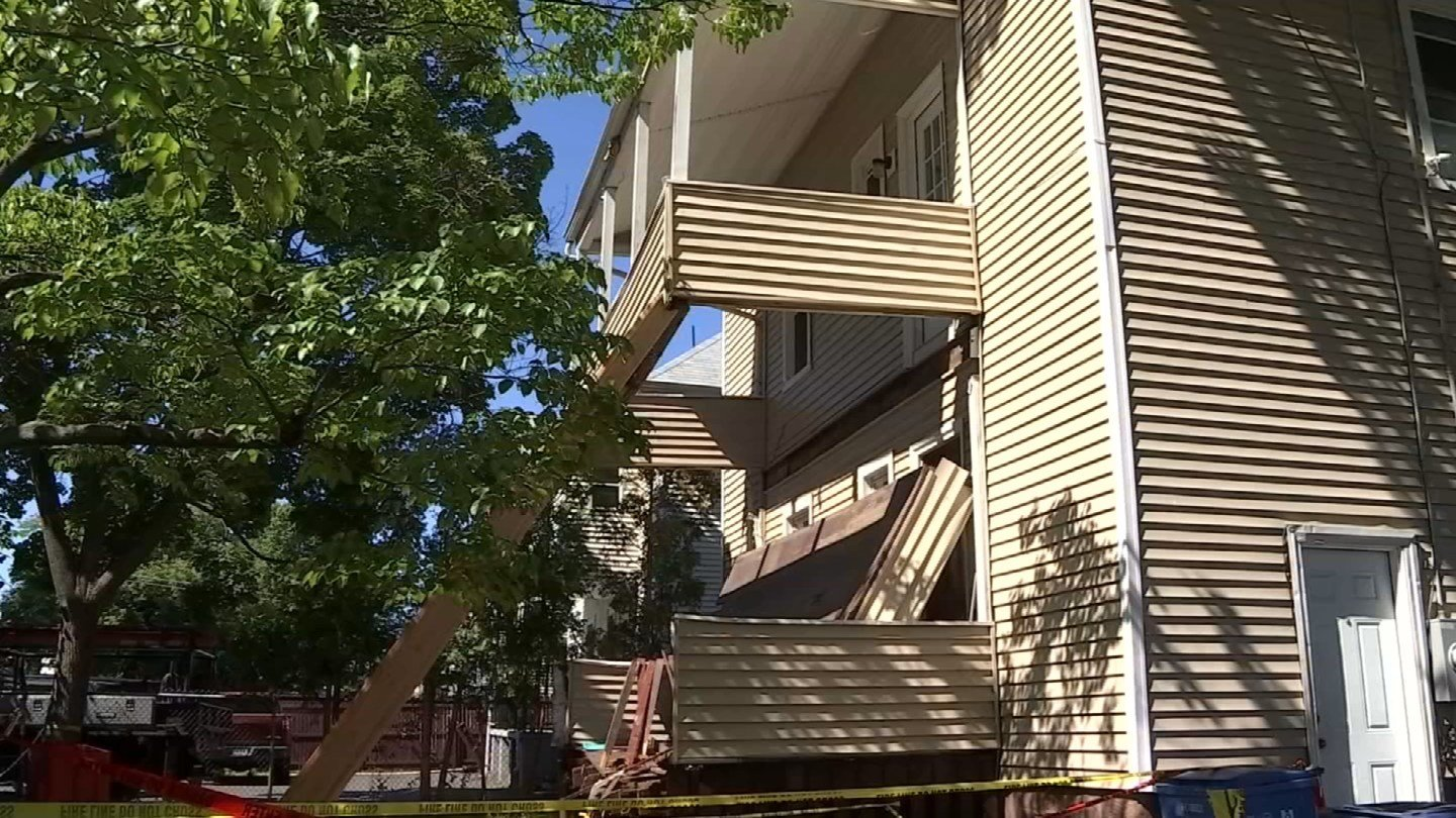 A porch collapse on Campfield Avenue in Hartford injured more than a dozen people over the weekend. (WFSB)