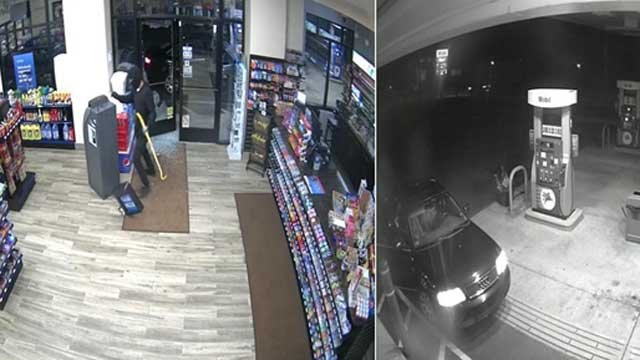 Police are looking for the man who stole an ATM machine (Milford Police)
