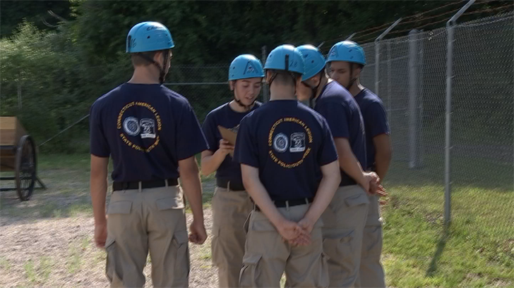 20 cadets participated in the Connecticut State Police Youth week (WFSB)