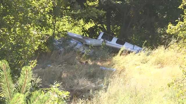 Crews responded to a plane crash in Plainville on Thursday morning (WFSB)