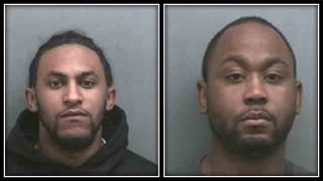 Police arrested 23-year-old Kyle Hampton, of North Haven, and 33-year-old Tivon Edwards (Wallingford Police)