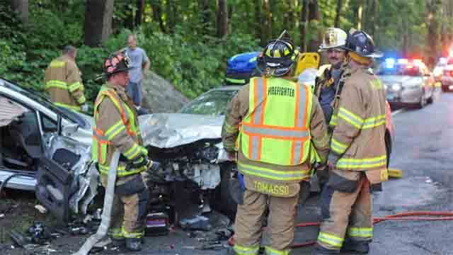 Three people were seriously injured in a crash in Haddam on Sunday (Haddam Volunteer Fire Company)