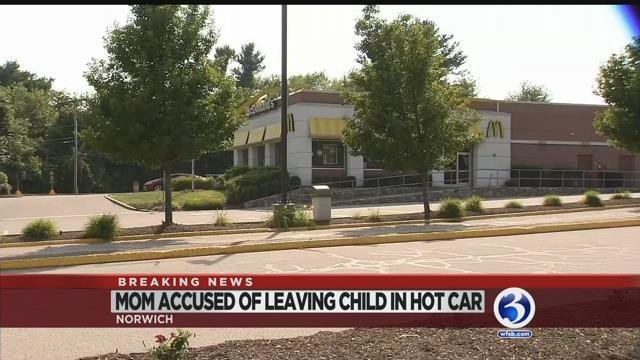 Video: Mother arrested for leaving child in Norwich car