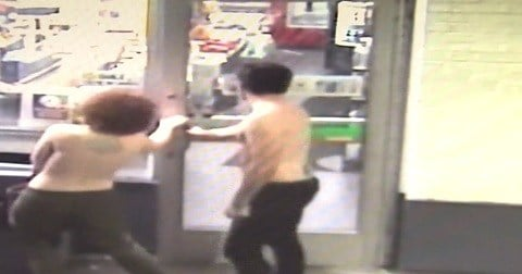 A man and a woman walked shirtless into a New Haven convenience store (WFSB)