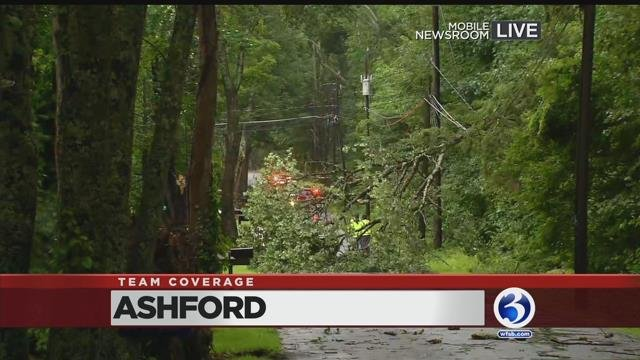 Video: Storm damage reported in Ashford
