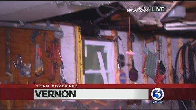 Video: Lightning to blame for Vernon garage fire