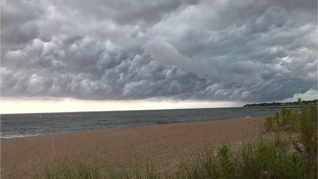 Folks headed to the beach before the storms rolled through the state (WFSB)