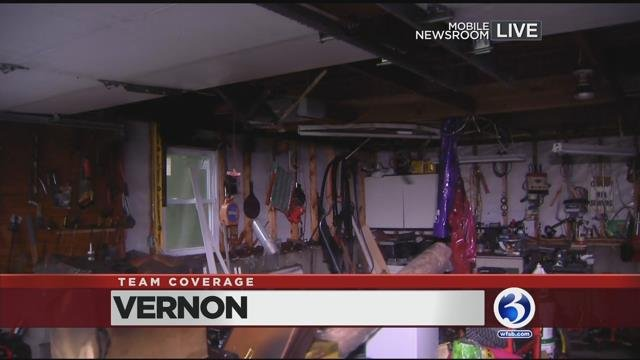 Lightning is to blame for a garage fire in Vernon (WFSB)