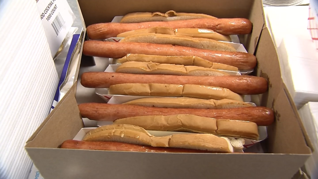 People visited their favorite hot dog spots to celebrate National Hot Dog Day (WFSB)