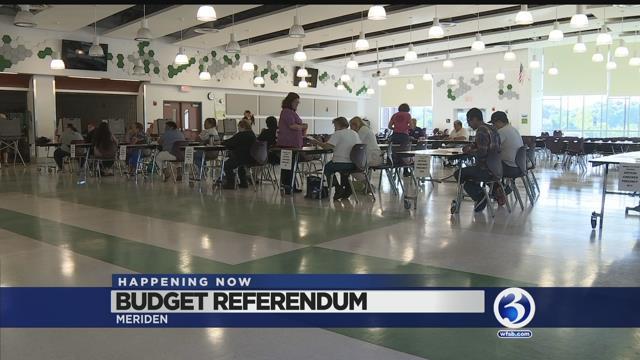 Video: Meriden residents head to polls to vote on budget referendum