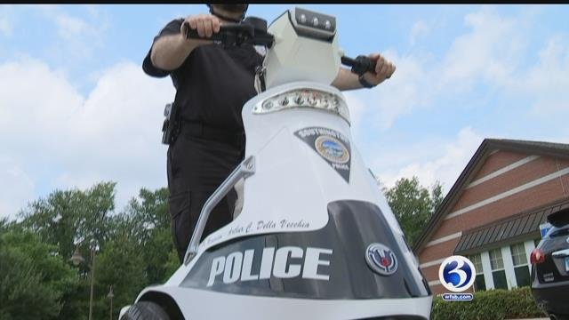 Southington Police are using 'stand-up vehicles' to patrol the walking trail (WFSB)