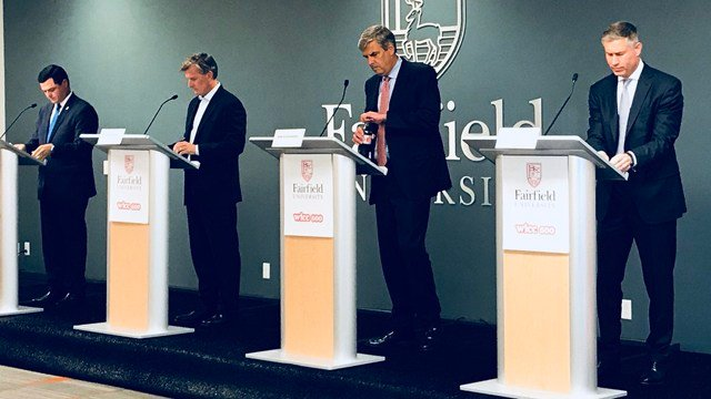 Republican candidates for governor took part in a debate at Fairfield University (WFSB)