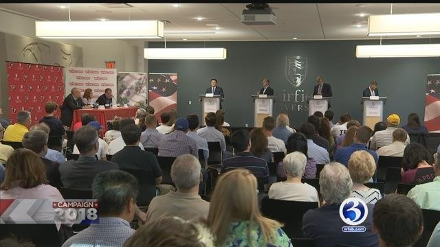 VIDEO: Republican candidates for gov. take part in debate ahead of primary