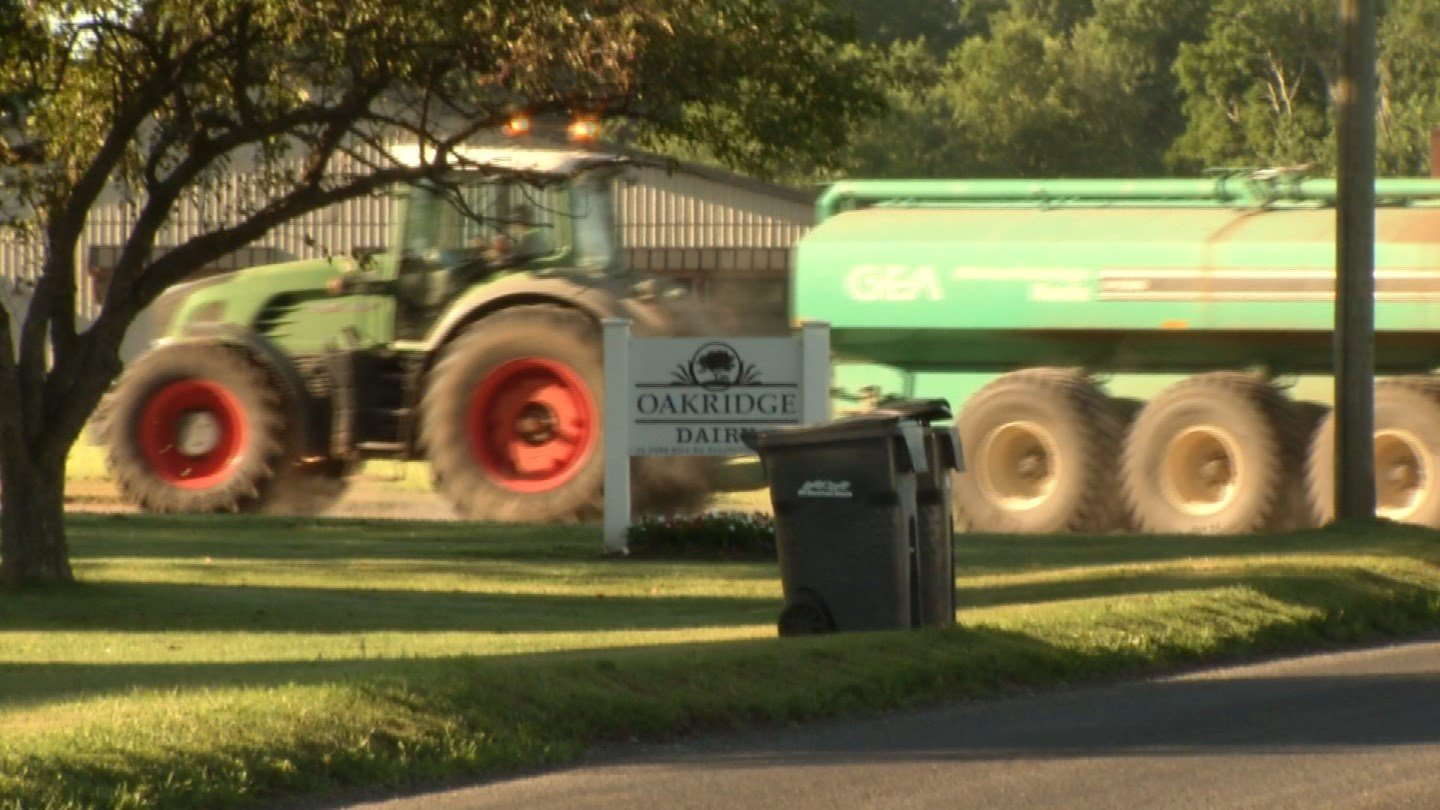 A man was kicked in the jaw by a cow at the Oakridge Farm in Ellington on Thursday morning. (WFSB)