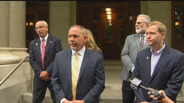 State Democrats said they were filing an elections complaint against national Republicans who they claim used undisclosed money to target local races. (WFSB)