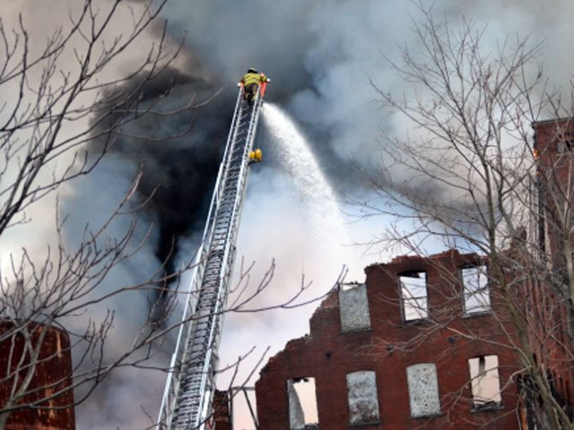 WFSB viewer Chris Dinino sent in this amazing photo of the factory fire in Waterbury.