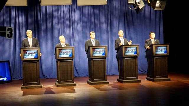 The GOP candidates for governor faced off in a debate on Channel 3 Wednesday (WFSB)