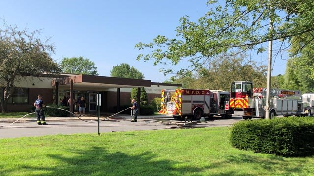 A small fire was reported at the Thomas Hooker Elementary School in Meriden on Friday morning. (WFSB)