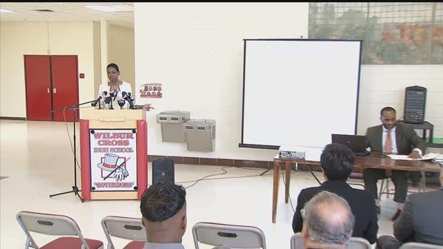 School officials discussed budget issues in New Haven amid layoffs. (WFSB)