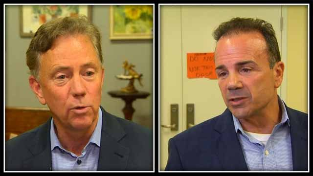 Ned Lamont and Joe Ganim made the final push before the primary election on Tuesday (WFSB)