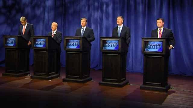 The GOP candidates debated at Channel 3 studios last week (WFSB)